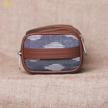 Load image into Gallery viewer, Travel Kit - Ikat Striped Grey(Side)