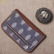 Load image into Gallery viewer, Ikat Striped Grey Chain Wallet
