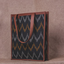 Load image into Gallery viewer, Ikat Brown Wave - Tote Bag