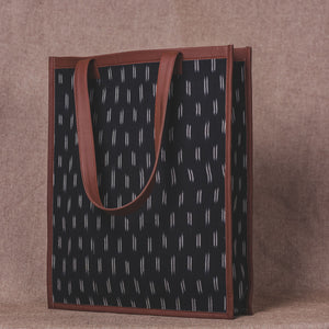 Ikat Black Dash - Tote Bag