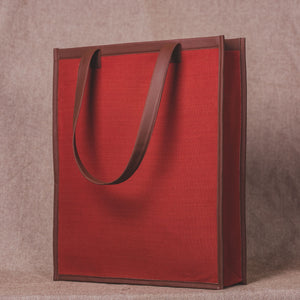 Canvas Brick Red - Tote Bag