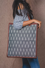 Load image into Gallery viewer, Ikat Striped Grey - Tote Bag