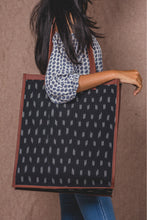 Load image into Gallery viewer, Ikat Black Dash - Tote Bag
