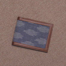 Load image into Gallery viewer, Unisex Pocket Wallet - Ikat Striped Grey