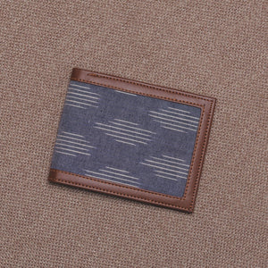 Unisex Pocket Wallet - Ikat Striped Grey