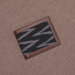Unisex Pocket Wallet - Ikat Wave