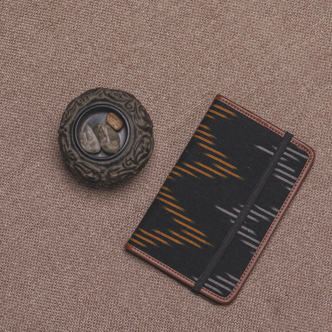 Passport Holder - Ikat Brown Wave