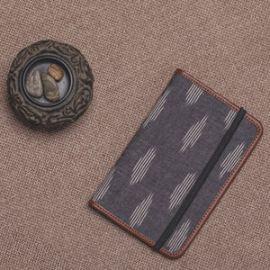 Passport Holder - Ikat Striped Grey