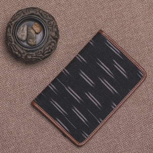 Passport Holder - Ikat Black Dash