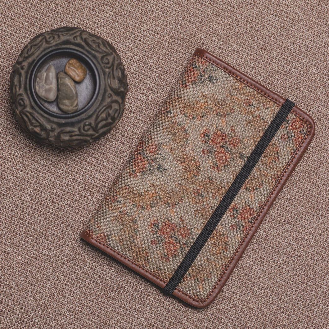 Passport Holder - Beige Petal Motif