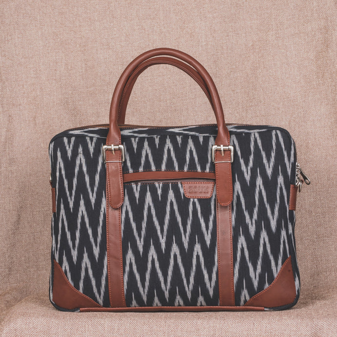 Messenger - Ikat Print Laptop Bag