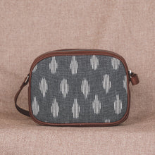 Load image into Gallery viewer, Zouk Ikat Grey Striped Sling Bag