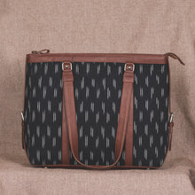Load image into Gallery viewer, Ikat Black Dash Women's Office Bag