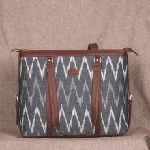 Load image into Gallery viewer, Ikat Grey MultiWave Women's Office Bag