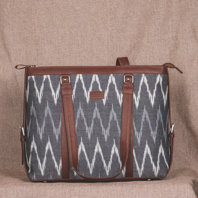 Ikat Grey MultiWave Women's Office Bag