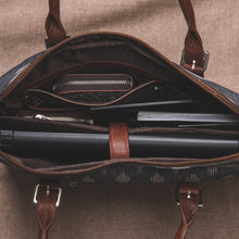 Load image into Gallery viewer, Zouk FloMotif Messenger or Laptop Bag  - Zoomed in Inside of the bag View
