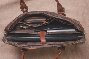 Zouk FloMotif Messenger or Laptop Bag  -Zoomed out inside of the bag view