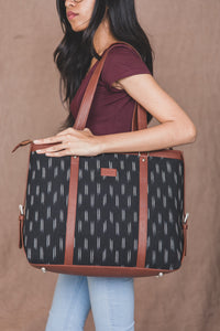 Ikat Black Dash Women's Office Bag