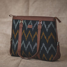 Load image into Gallery viewer, Ikat Brown Wave Women's Office Bag