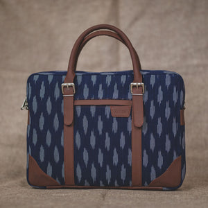 Messenger - Ikat Jet Blue Laptop Bag