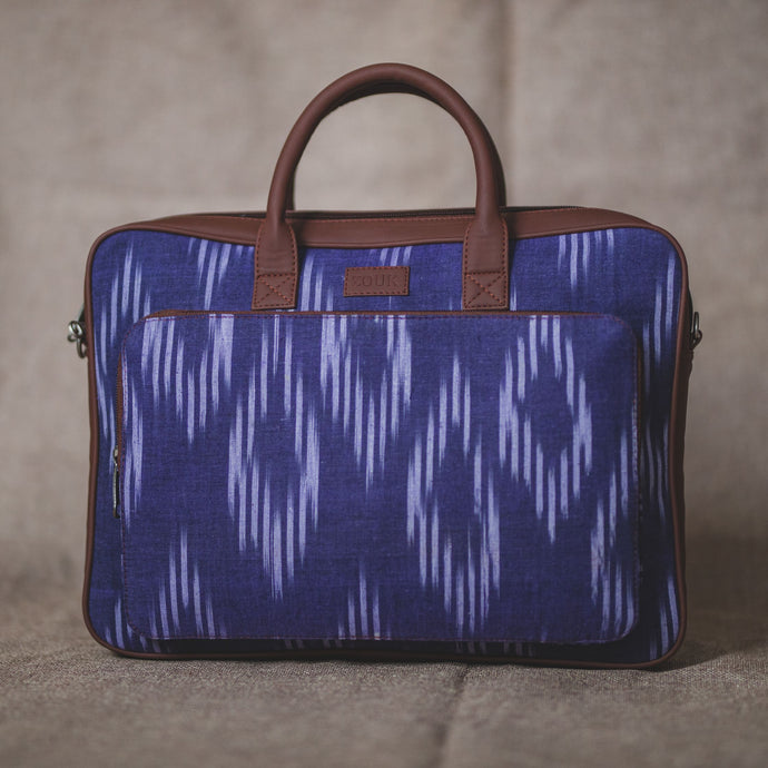 Blue Crystal Laptop Bag