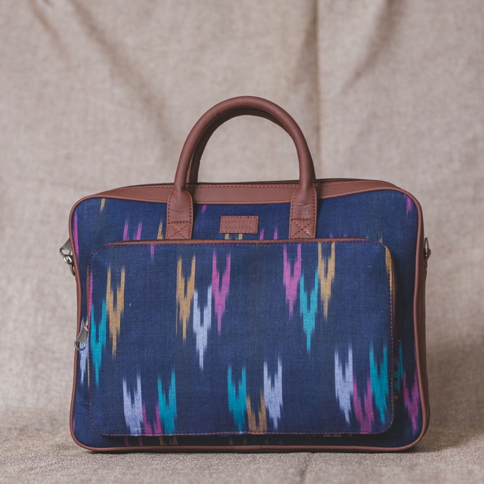 Blue Multi Strip Laptop Bag