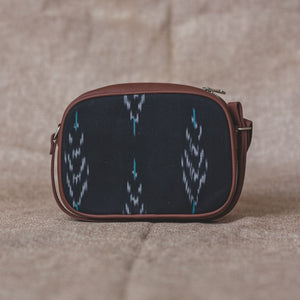Ikat Peacock Feather Motif Sling Bag