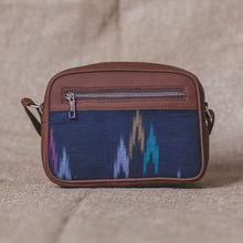 Load image into Gallery viewer, Blue Multi Strip Sling Bag