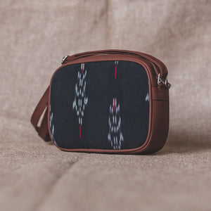 Ikat Red Feather Sling Bag