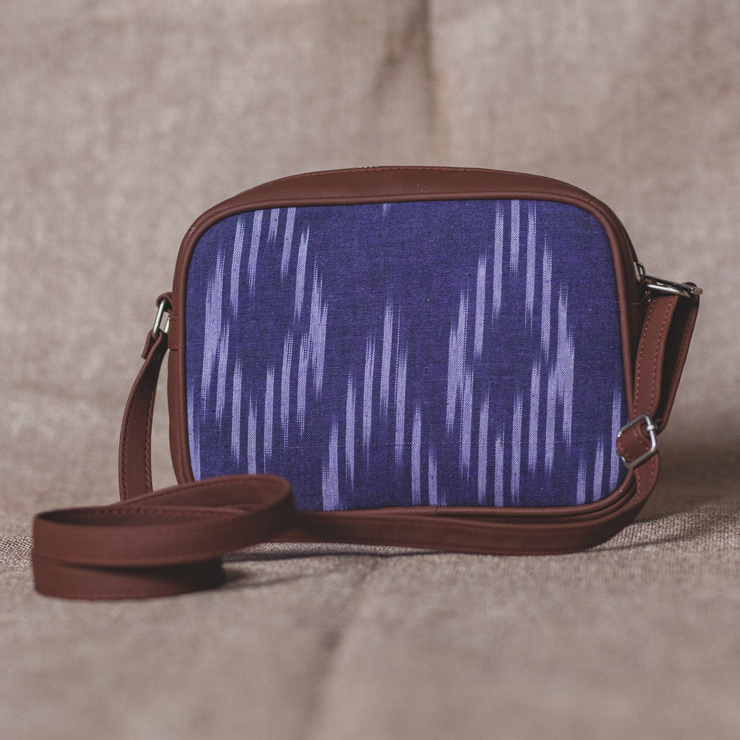 Blue Crystal Sling Bag