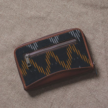 Load image into Gallery viewer, Ikat Brown Wave Chain Wallet