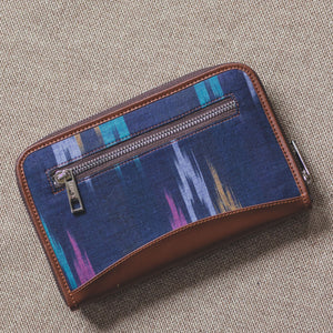 Blue Multi Strip Chain Wallet