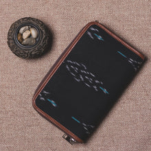 Load image into Gallery viewer, Classic Zipper Wallet - Ikat Peacock Feather