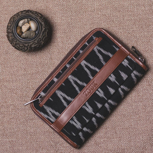 Classic Zipper Wallet - Ikat Wave