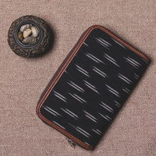 Load image into Gallery viewer, Classic Zipper Wallet - Ikat Black Dash