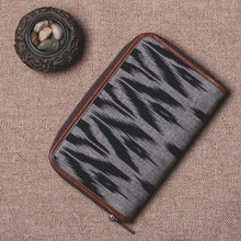 Load image into Gallery viewer, Classic Zipper Wallet - Ikat Grey Black Animal Print