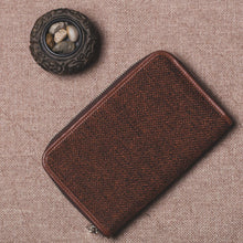 Load image into Gallery viewer, Classic Zipper Wallet  - Brown Metal