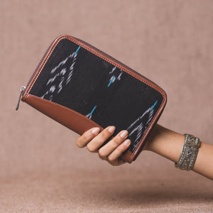 Ikat Peacock Feather Chain Wallet