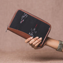 Load image into Gallery viewer, Ikat Red Feather Chain Wallet