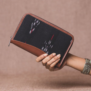 Ikat Red Feather Chain Wallet