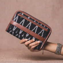 Load image into Gallery viewer, Classic Zipper Wallet - Ikat Wave