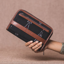 Load image into Gallery viewer, Classic Zipper Wallet - Ikat Red Feather