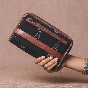 Classic Zipper Wallet - Ikat Red Feather