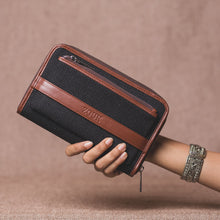 Classic Zipper Wallet - Jet Black
