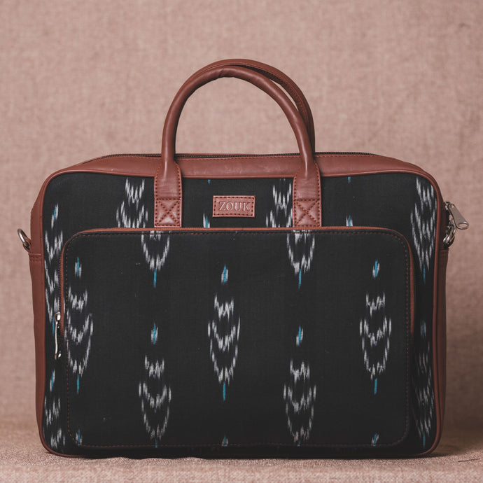 Ikat Peacock Feather Laptop Bag