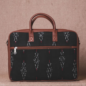 Ikat Red Feather Laptop Bag