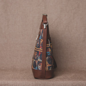 Zouk African Art Bucket or Sling Bag - Side View