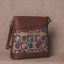 Load image into Gallery viewer, Zouk African Art Bucket or Sling Bag - Side Angle View