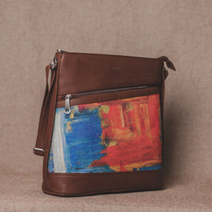 Zouk Abstract Amaze Bucket or Sling Bag - Angel View