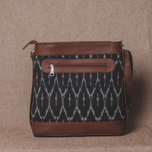 Load image into Gallery viewer, Ikat Black Multi Maze Bucket Sling Bag